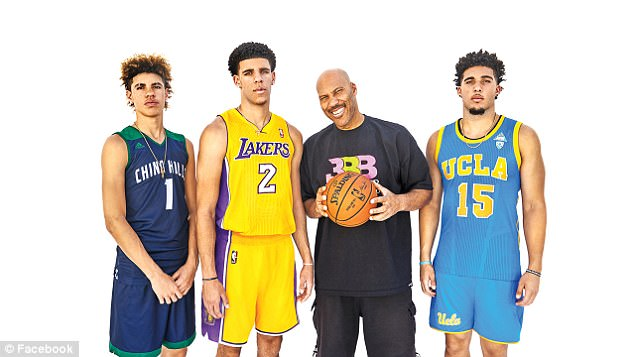 5aea8b66c03 Lonzo s 19-year-old brother LiAngelo – now playing with Lithuania s  Vytautas Prienai–Birštonas – was famously suspended from UCLA after being  arrested for ...