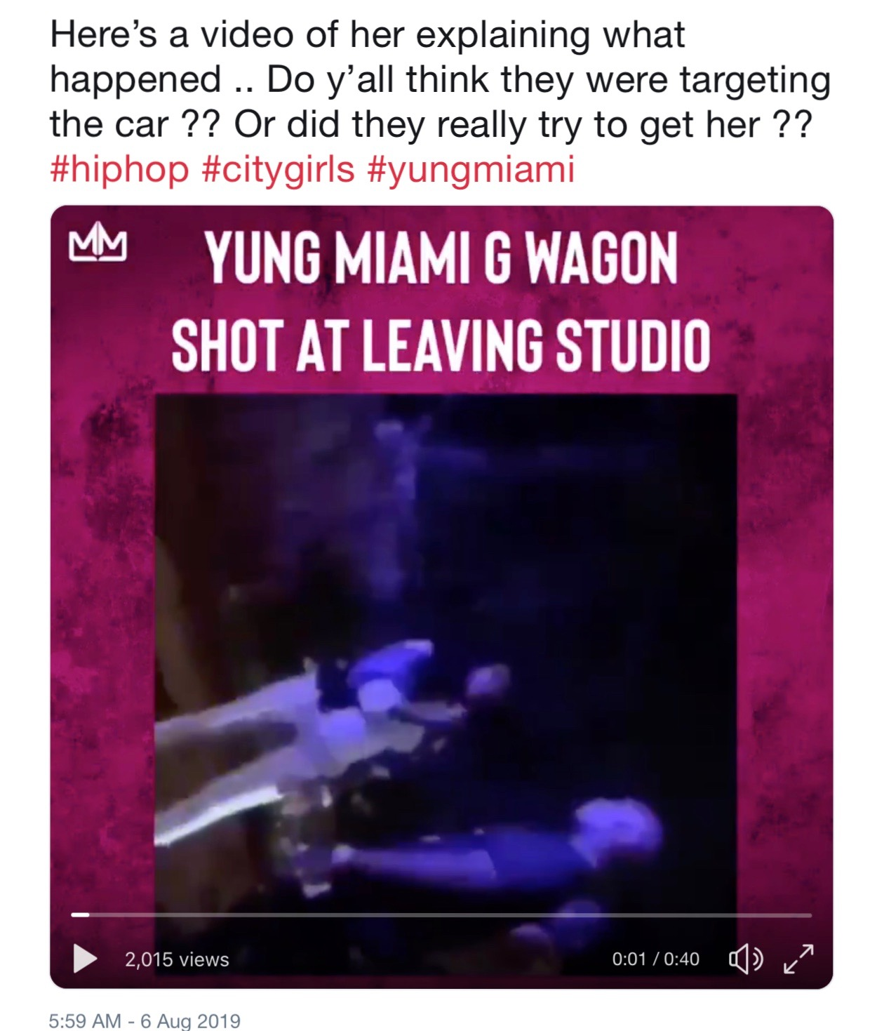City Girls Rap Star Yung Miami Shot At By Jealous Girl